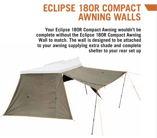 DARCHE ECLIPSE 180R COMPACT AWNING WALLS オプション ウォール